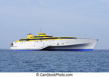 Modern high speed ferry boat