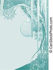 blue ice christmas background