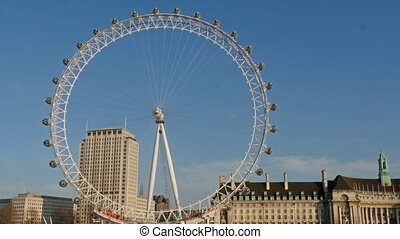 The huge London Eye or the ferris wheel in London The London...