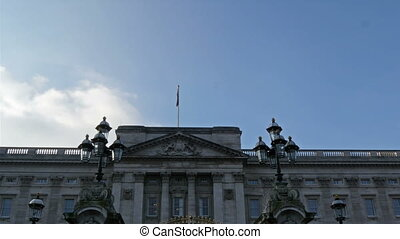 Englands Buckingham Palace view from outside. Buckingham...