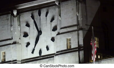 The big wall clock on the Palace of Westminster The clock is...