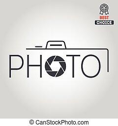 Logo, badge, emblem or label for photograph - Logo or...