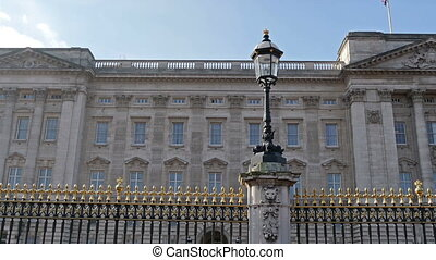 The beautiful Buckingham Palace from outside Buckingham...