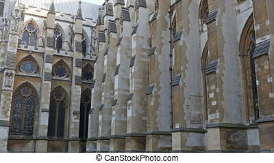 The old ancient Westminster Abbeys windows Showing the old...