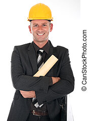 Businessman engineer - Handsome businessman, engineer,...
