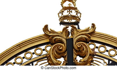 The small details of the huge gate of the palace Seen are...