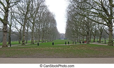 People having their morning walk in the Green Park Its a...