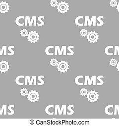 Cms seamless pattern - Cms white and black seamless pattern...