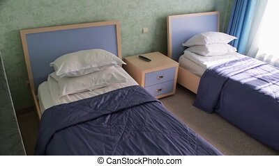 Bedroom in the hotel - Bedroom childrens room with two beds,...