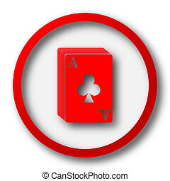 Deck of cards icon. Internet button on white  background.
