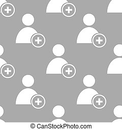 Add user seamless pattern - Add user white and black...