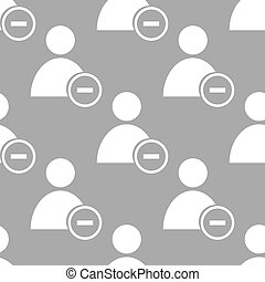 Remove user seamless pattern - Remove user white and black...