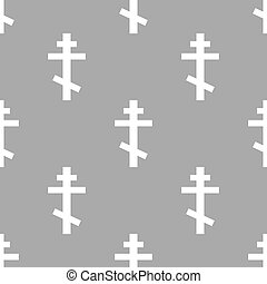 Orthodoxy seamless pattern - Orthodoxy white and black...