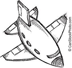Jet Doodle Sketch Vector Art