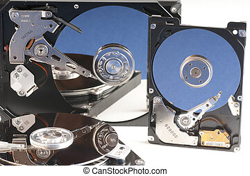 details of hard disk drive opened with evidence of the...
