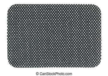 A piece of Gray anti slip mat isolated on white background