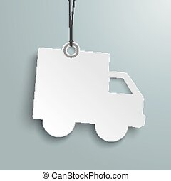 Shipping Paper Car Price Sticker - Price sticker on the gray...