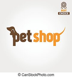 Logo, badge or label for pet shop and veterinary clinic -...
