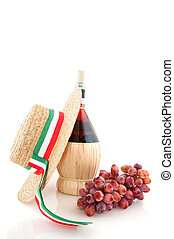 Chianti from Italy - Basket bottle with Chianty from Italy...