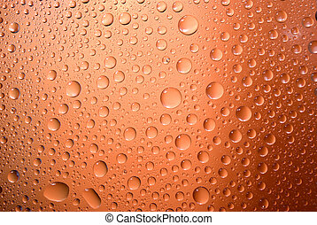 waterdrops on a steamy window - Colorful waterdrops on a...