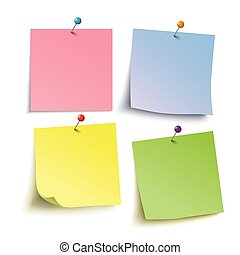 4 Colored Sticks 4 Tacks - Infographic with colored stickers...
