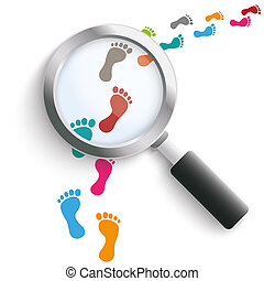 Footprint Colored Track Loupe - Colored footprints with...
