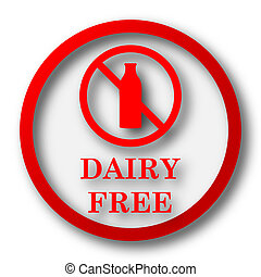Dairy free icon. Internet button on white  background.