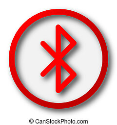 Bluetooth icon. Internet button on white  background.