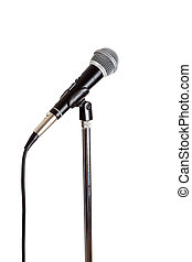 Microphone on a stand - Stainless steel Microphone on a...