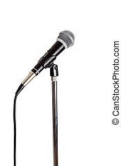 microfone, levantar