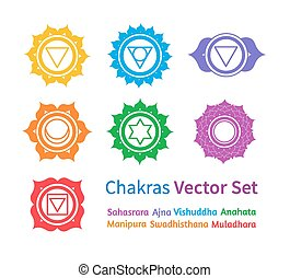 Chakras Vector set