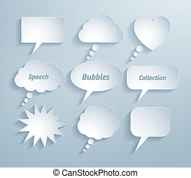 Collection of paper bubble talks.