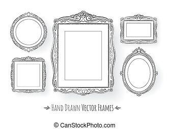 Vintage baroque frames set.