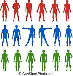 Full length front, back man - Full length front, back...