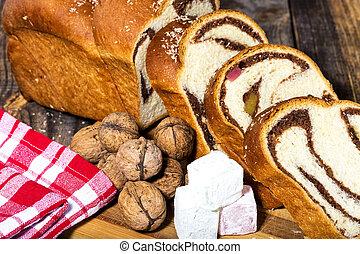 Andelar, av, romanian, snylta, Tårta, bukett,