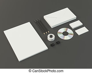 Mockup business template - Template business for branding...