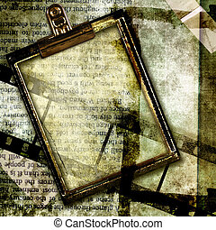 Abstract Background With Frame.