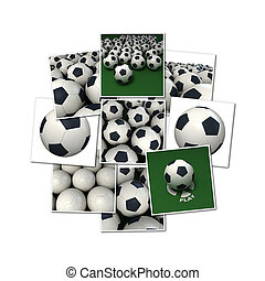 Football collection - Collection of football 3D renderings