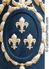 Fleur de Lys medallion - Detail of a medallion with fleur de...