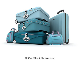 Luggage in blue shades - Elegant looking baggage in...