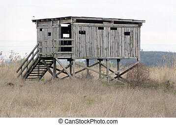 bird hide - wooden bird hide on reserves