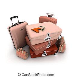 Chic baggage - Elegant looking baggage in beige, brown and...