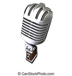 Retro mic aerial