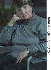 Depression in old age - Retired woman suffering for...
