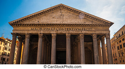 Pantheon, Rome - Pantheon in Rome. One of the main landmarks...