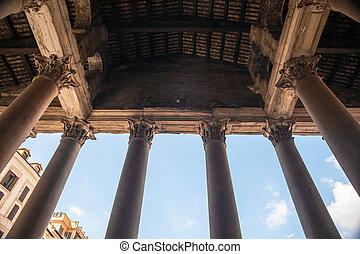 Pantheon, Rome - Columns of Pantheon in Rome.