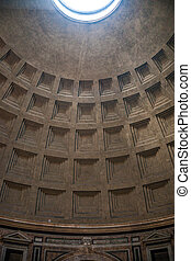 Pantheon, Rome - Interior of Pantheon in Rome. One of the...