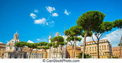 Via dei Fori Imperiali, Rome - View on Via dei Fori...