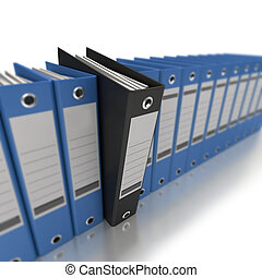 Business organization - 3D rendering of a line of office...