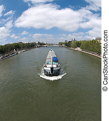 Canal Boat in Paris